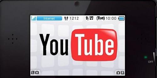 comment avoir youtube sur nintendo 3ds