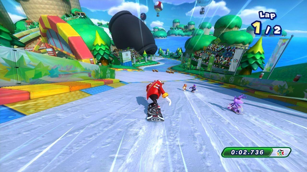 Point de vue réalisation Mario & Sonic aux Jeux Olympiques d Hiver de Sotchi 2014 se contente du strict minimum passable sans tomber dans