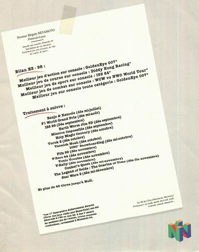 L'ordonnance du Dr Miamoto après l'E3 1998
