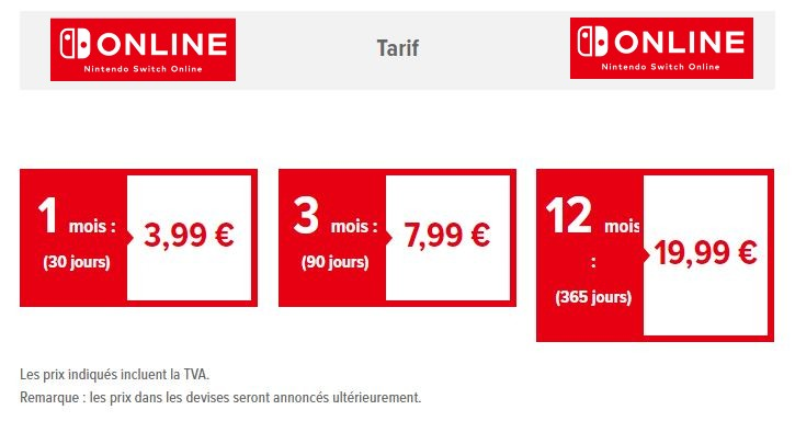 Nintendo Switch Nintendo-switch-online-tarifs