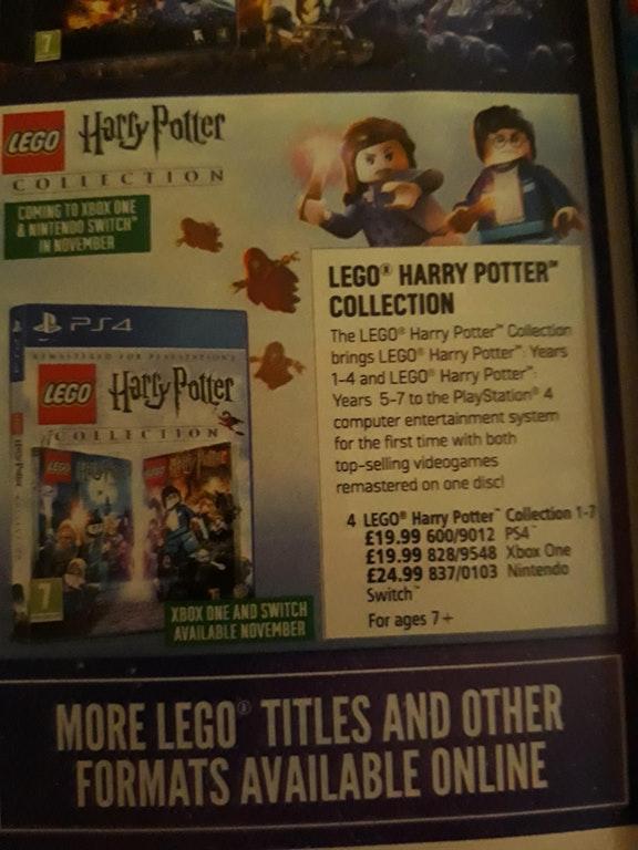 Lego Harry Potter Collection En Novembre Sur Nintendo