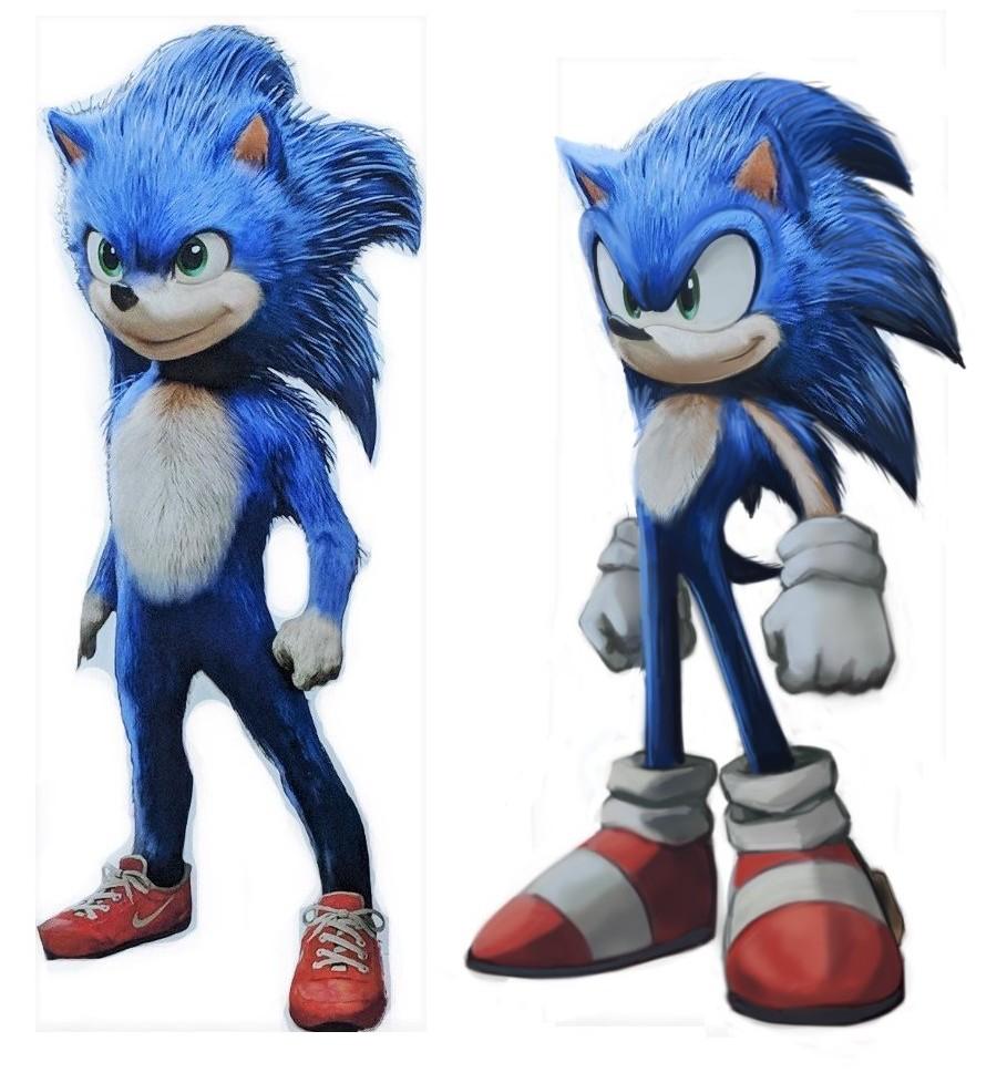 Les Fans Refont Le Portrait De Sonic Dans Sonic Le Film