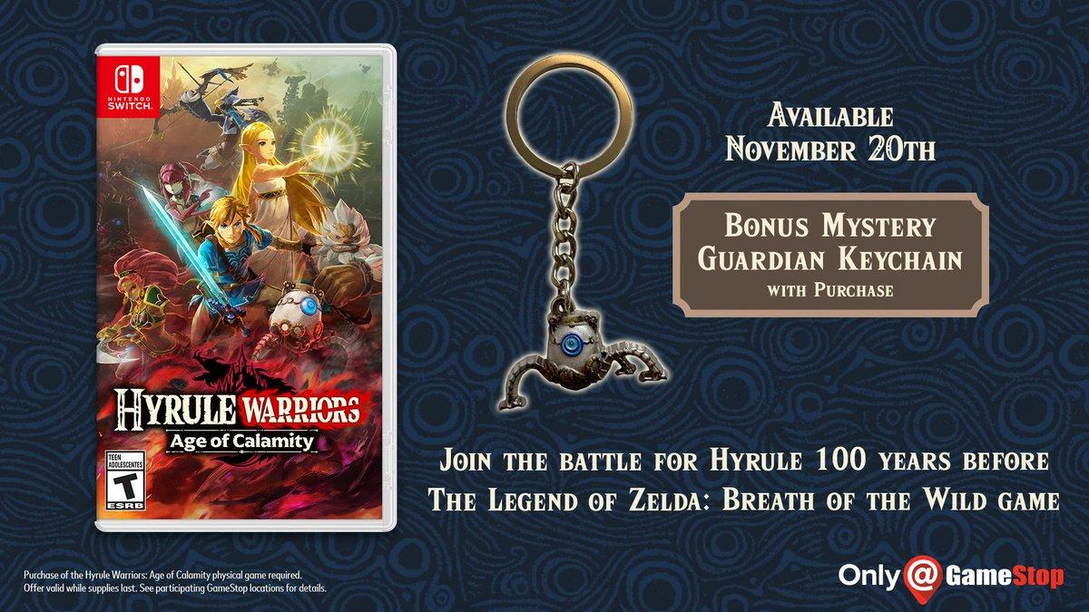 Hyrule Warriors L Ere Du Fleau Un Porte Cle Mini Gardien Pour Les Precommandes Aux Etats Unis Nintendo Switch Nintendo Master