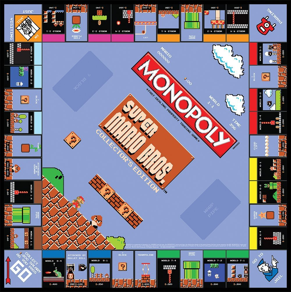 monopoly pr pare une dition super mario bros divers nintendo master. Black Bedroom Furniture Sets. Home Design Ideas