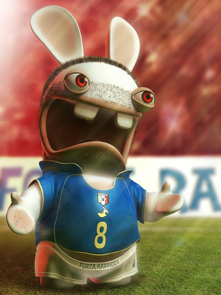 Les lapins cr tins parodient les stars du foot divers - Lapin cretain gratuit ...