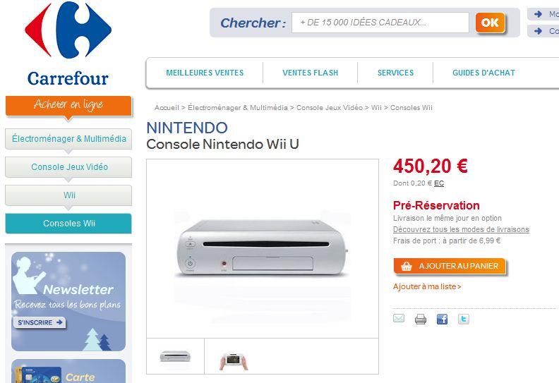 Carrefour et zavvi proposent un prix et une r servation - Console wii prix carrefour ...