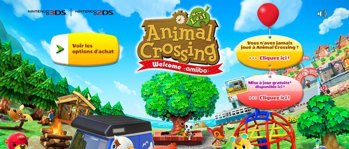 Animal Crossing New Leaf La Mise A Jour Welcome Amiibo Est