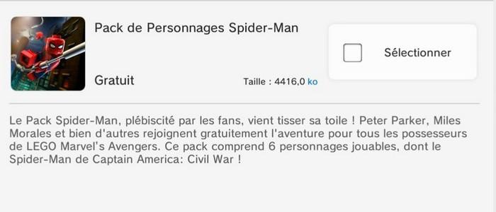 lego marvels avengers pack gratuit de personnages spiderman vido