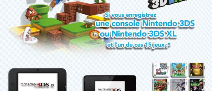 Nouvelle Offre Nintendo : Super Mario 3D Land Gratuit