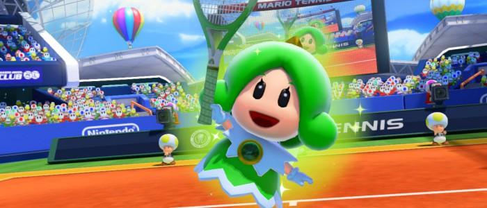 Princesse libella monte au filet dans mario tennis ultra - Princesse dans mario ...