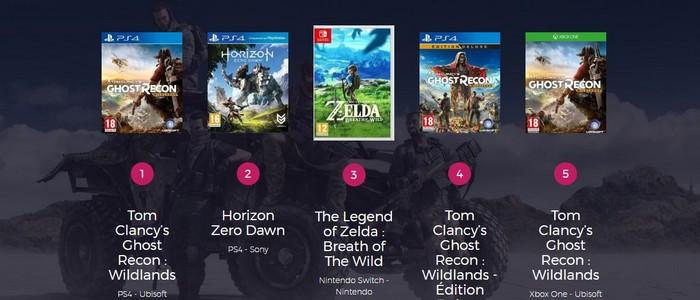 Surprenant Zelda Breath Of The Wild Ps4 top des meilleures ventes de jeux vidéo en france avec the legend of