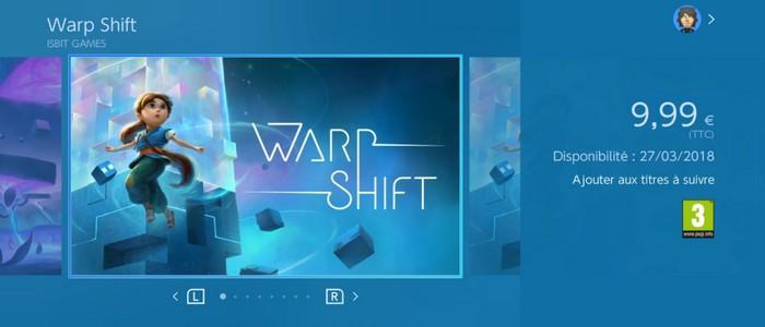 Warp Shift : la tête dans le cube, la semaine prochaine sur ...