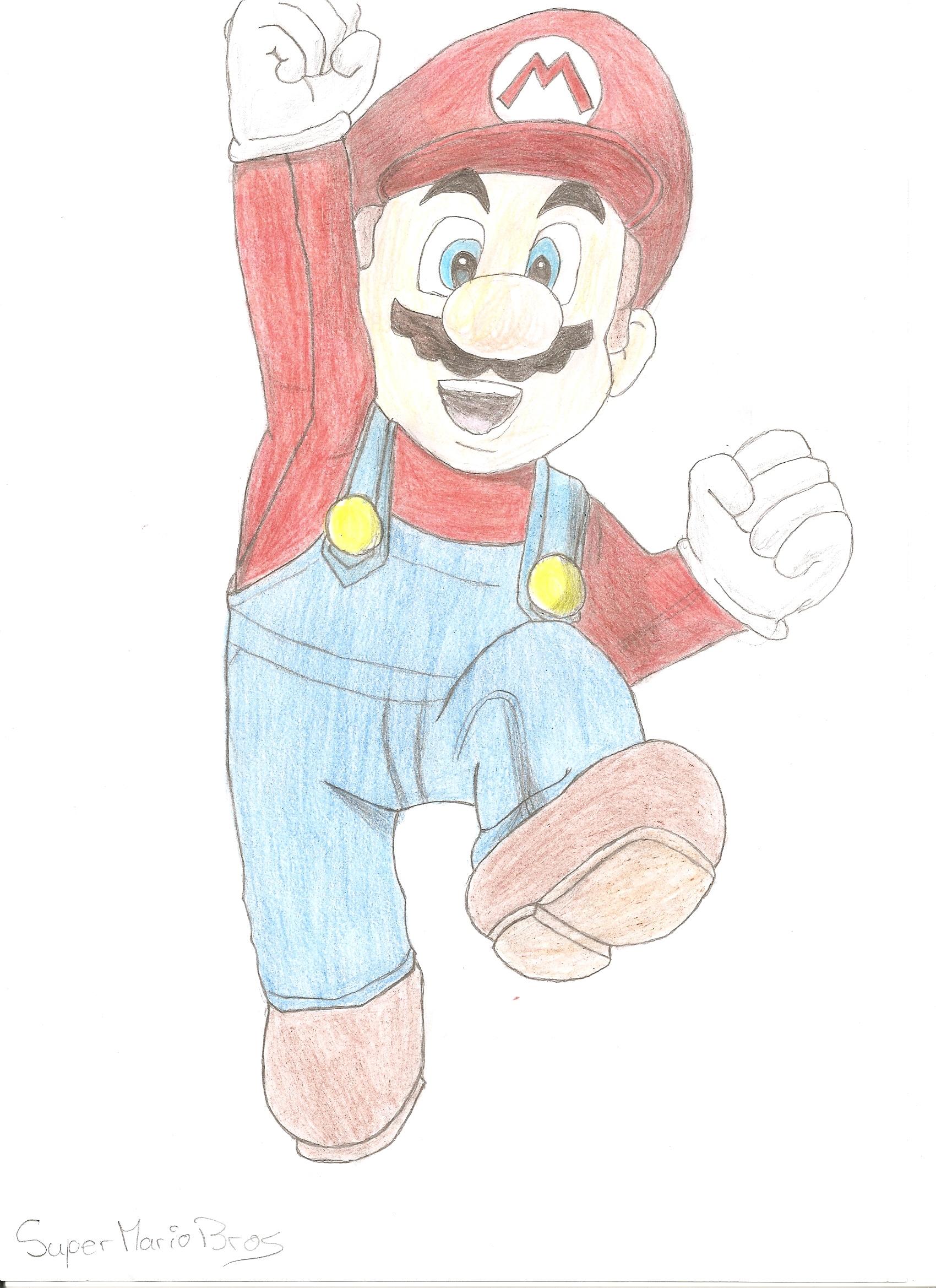 Mario et pêche ayant des rapports sexuels